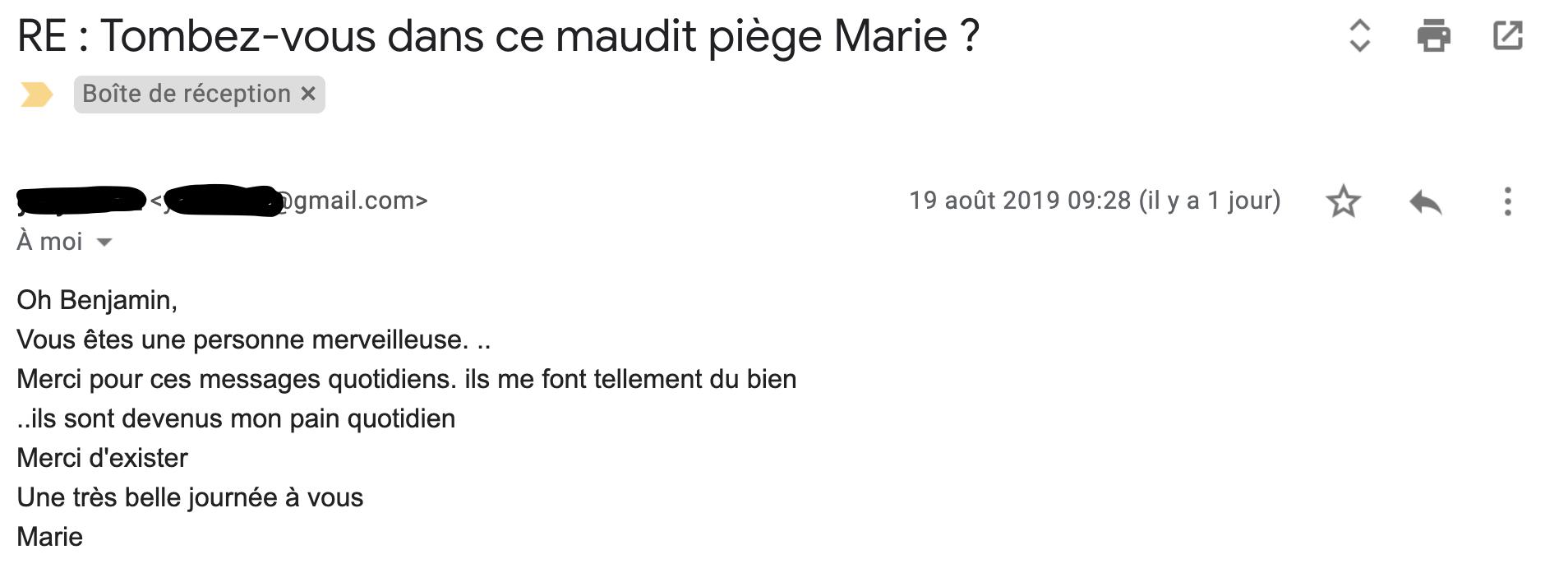 Message de Marie