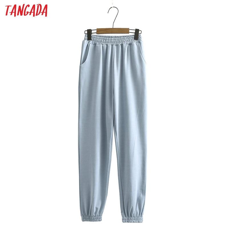 Tangada 2020 automne femmes Terry 95% coton costume surdimensionné ensembles o cou sweats à capuche sweat shorts pantalons costumes 6L30