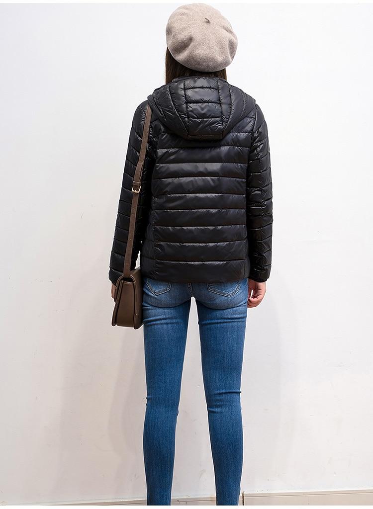 2019 nouvelle marque 90% blanc canard doudoune femmes automne hiver chaud manteau dame ultra-léger canard doudoune femme coupe-vent Parka