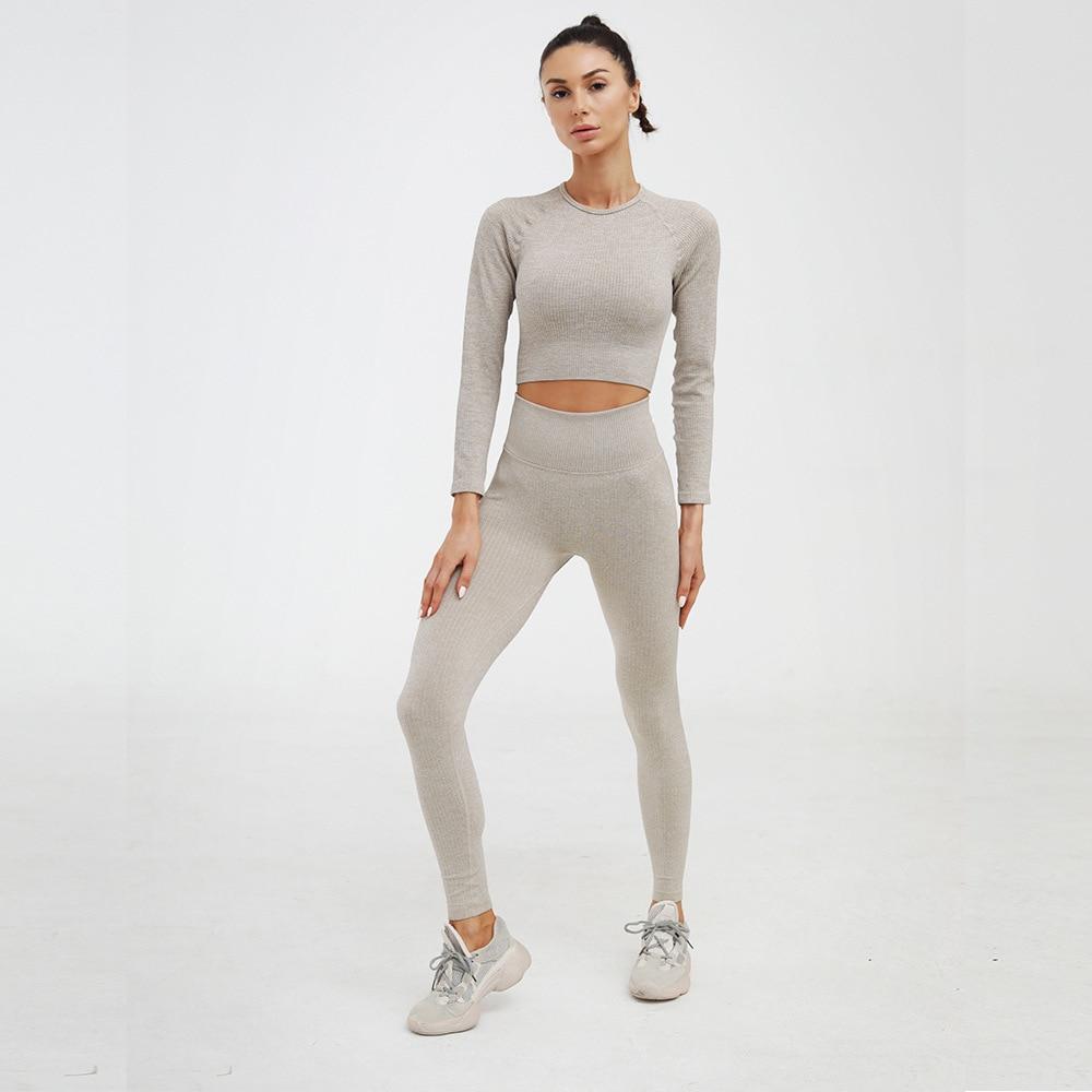 2 pièces femmes ensemble de sport vêtements d'entraînement survêtement femmes sport soutien-gorge Leggings ensemble femme vêtements de sport costumes ensembles athlétiques