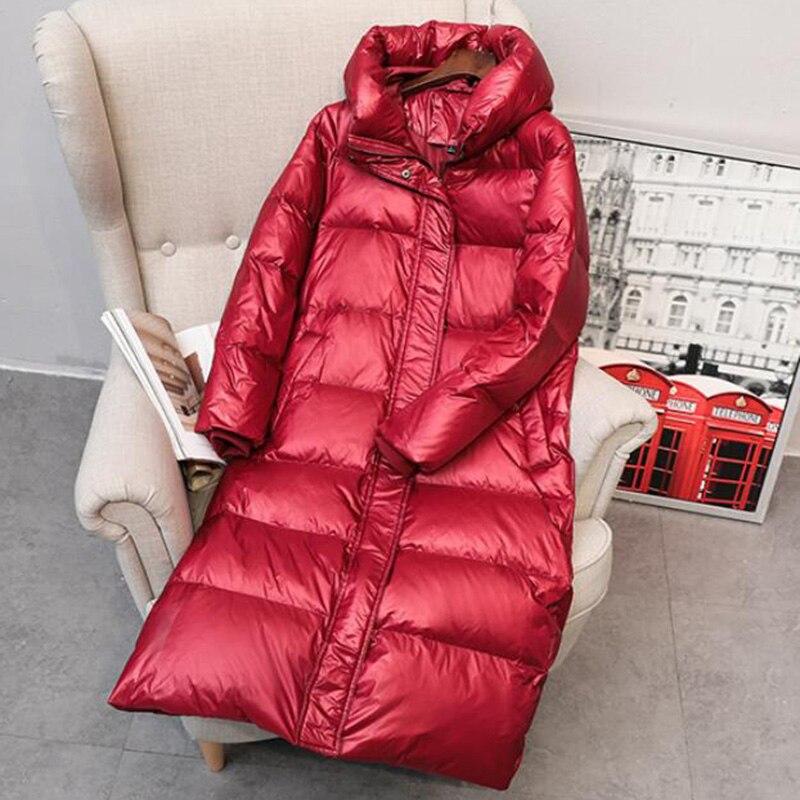 2020 manteau chaud veste hiver femmes à capuche Parkas haute qualité femelle hiver blanc canard vers le bas femelle épais chaud vers le bas manteau