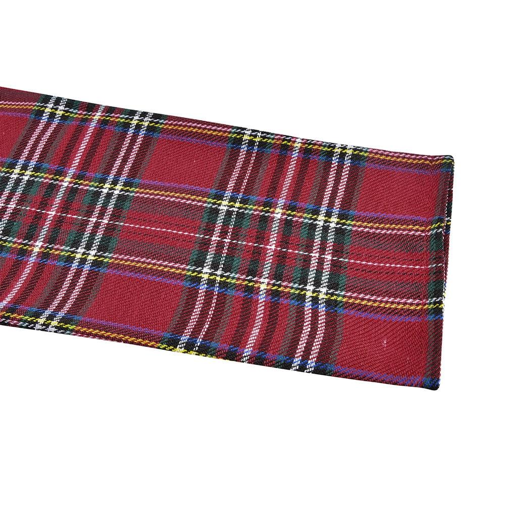 2020 hiver noël rouge Plaid robe à manches longues écossais Plaid mince robe coton Plaid Mini robe de noël fête Vestidos D25