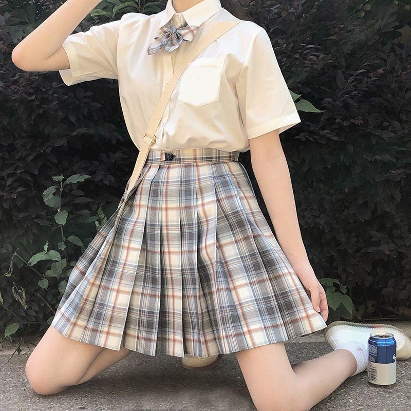 2020 été coréen taille haute plissé jupes noir gothique Sexy mignon Mini Plaid jupe femmes JK uniforme étudiants vêtements Y2K 90S