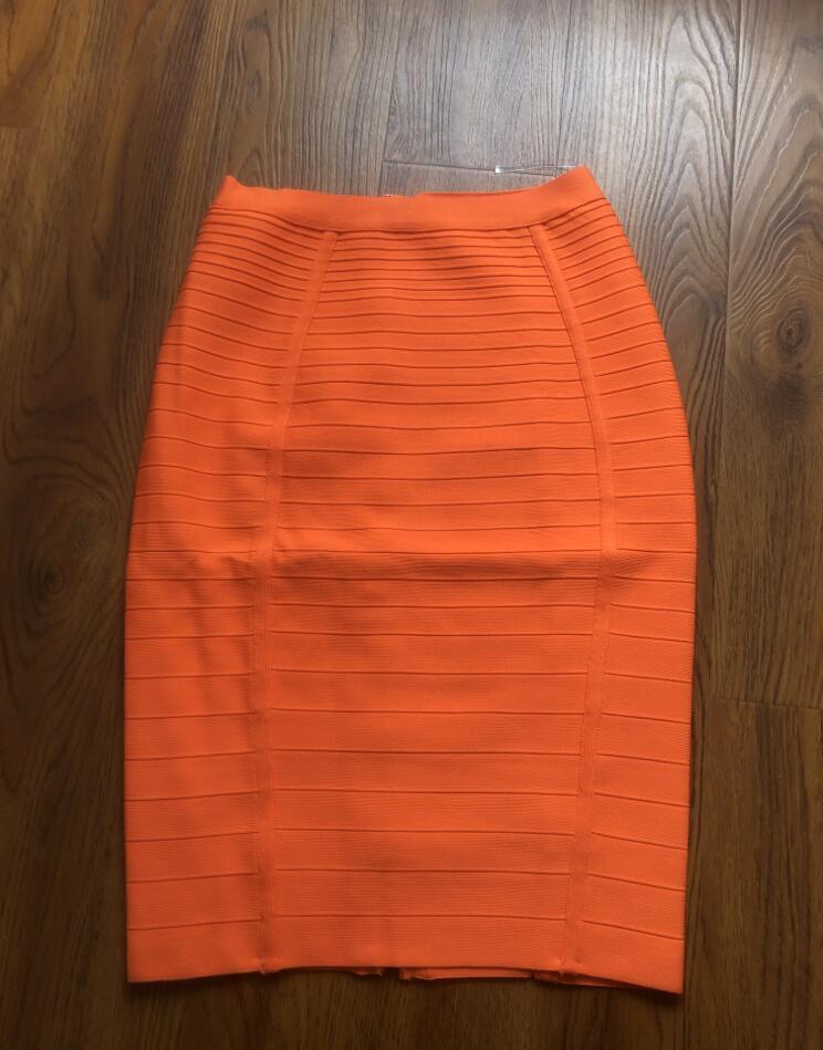 12 couleurs grande taille XL XXL Sexy solide fermeture éclair Orange bleu noir jupe de pansement femmes élastique moulante été jupe crayon 58cm