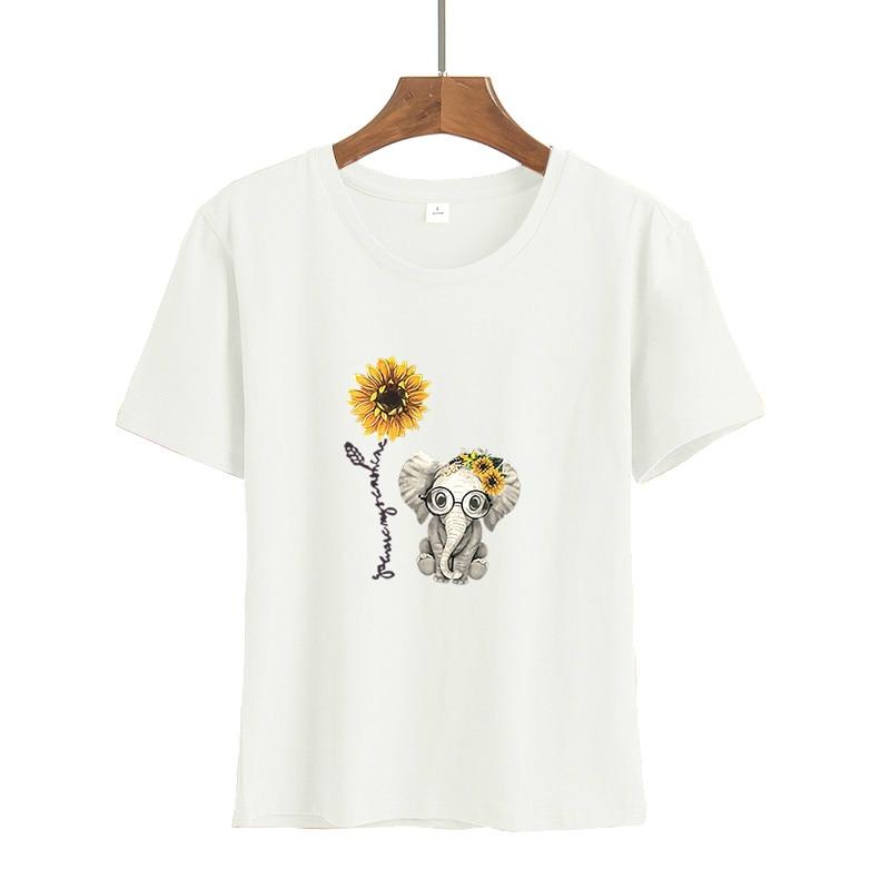2020 femmes décontracté Harajuku mode t-shirt plume impression ample col rond manches courtes élastique étiré été maison nouveau t-shirt