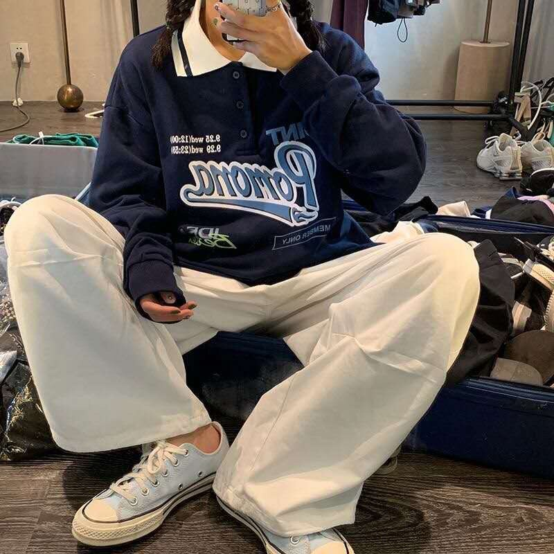 2020 automne surdimensionné vestes à capuche femmes style coréen à la mode lettre imprimer sweat-shirt ample haut Harajuku rose à manches longues vêtements