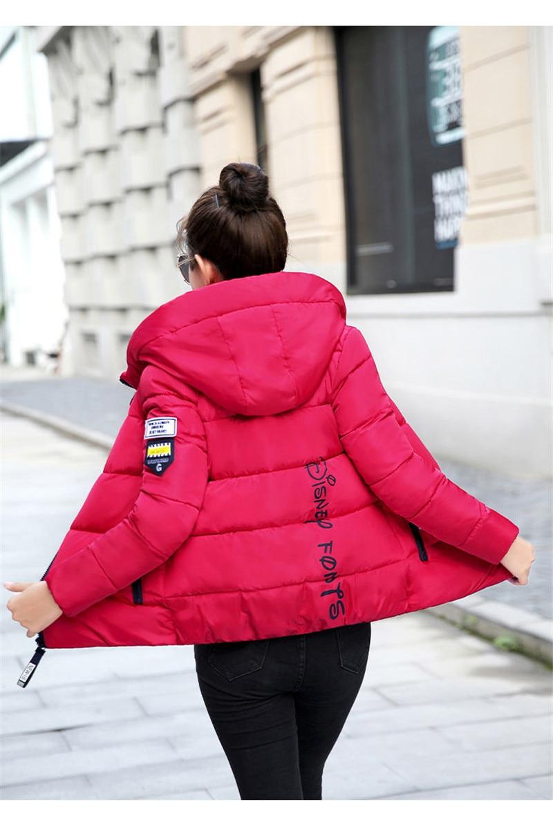 2020 nouveau hiver Parkas femmes veste à capuche épais chaud court veste coton rembourré Parka basique manteau vêtements de dessus pour femmes grande taille 5XL