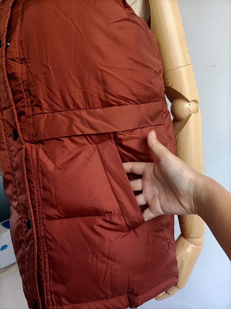 2020 femmes gilet sans manches hiver chaud grande taille 2XL bas coton rembourré veste femme Veats Mandarin col sans manches gilet