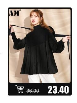 [EAM] noir grande taille longue coton rembourré manteau à manches longues coupe ample femmes Parkas mode marée nouveau printemps automne 2021 19A-a319