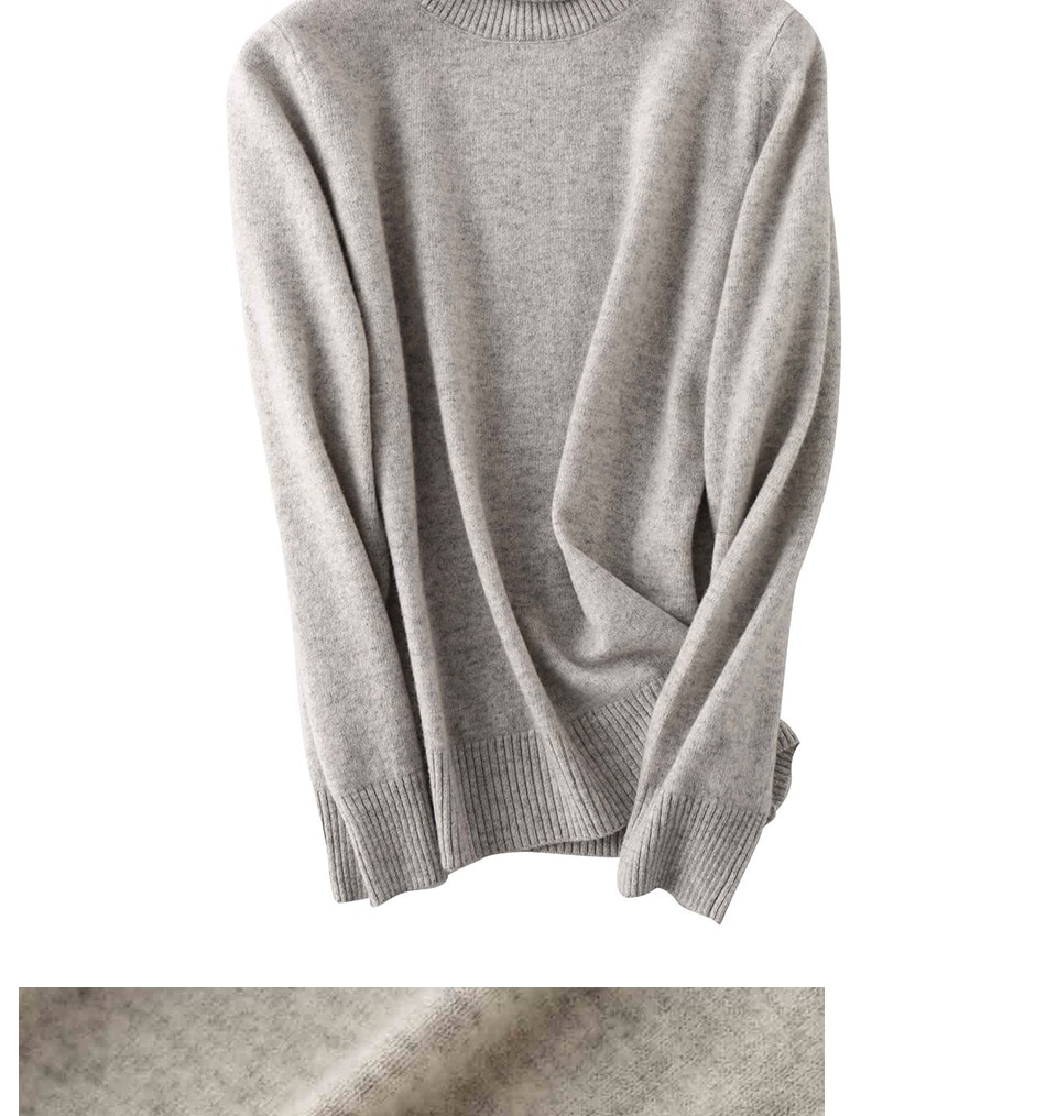 100% laine mérinos femmes pull à col roulé 2020 automne hiver chaud doux tricoté pull Femme pull femmes cachemire pull