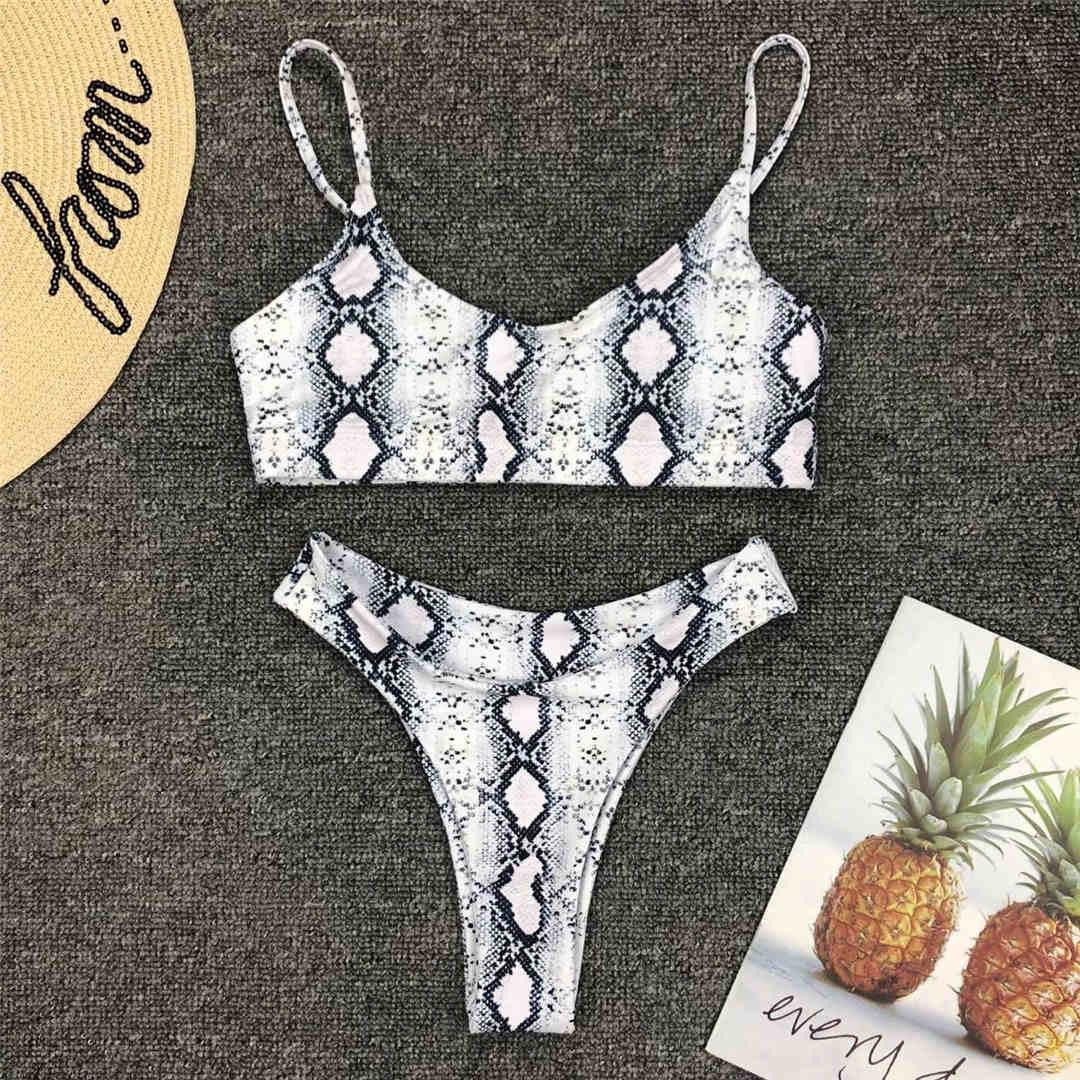 14 couleurs 2021 Sexy léopard Bikini femmes maillots de bain femme maillot de bain deux pièces Bikini ensemble brésilien baigneur maillot de bain nager V871