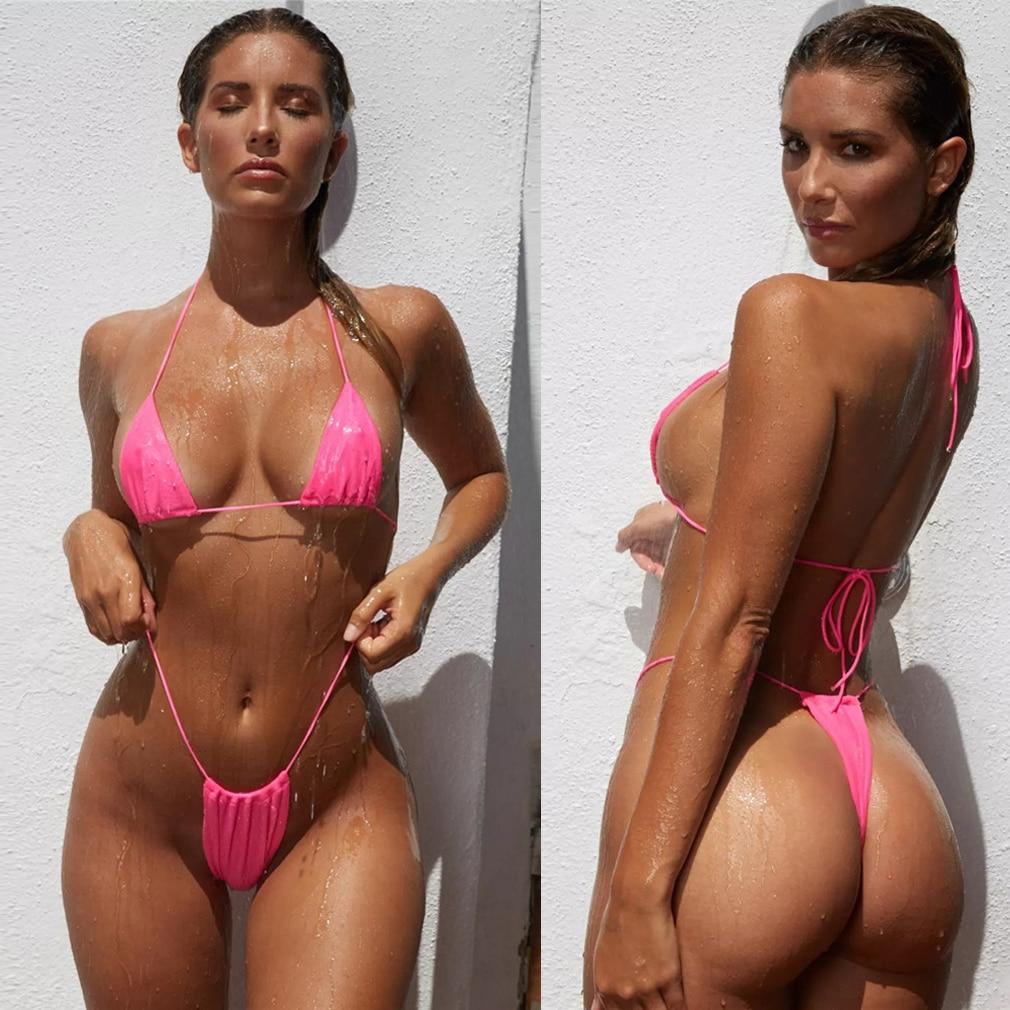 2 pièces Sexy femmes maillot de bain d'été ensemble Bikini soutien-gorge e costume maillot de bain maillot de bain maillot de bain